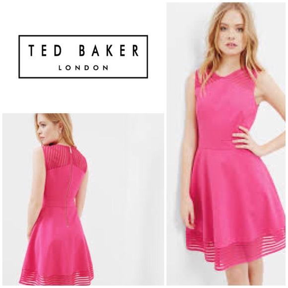 f879615e48b8 New Ted Baker Eleese Mesh Skater Dress
